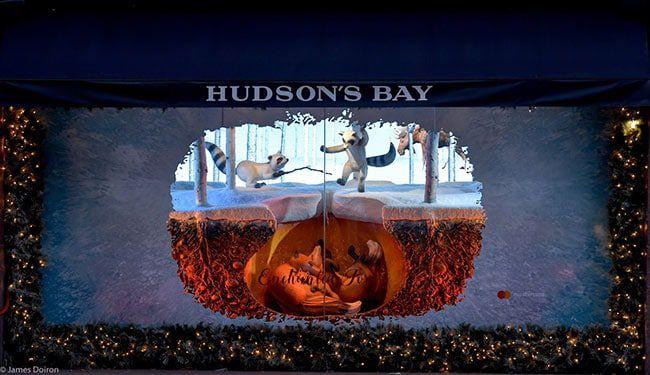escaparate navidad hudsonbay