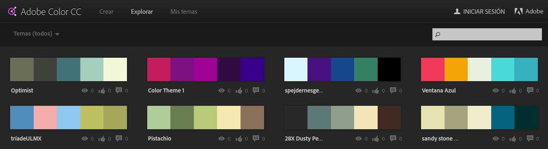 gama de colores para tu escaparate adobe color