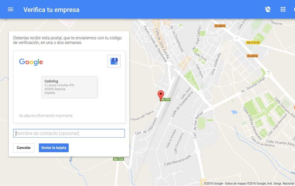 google my business tutorial paso3
