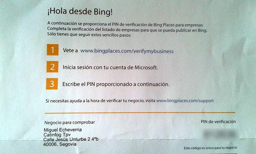 tutorial bing places carta postal