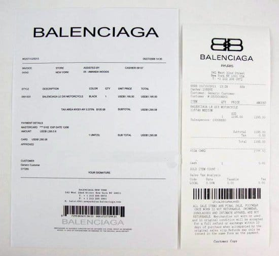 ticket balenciaga