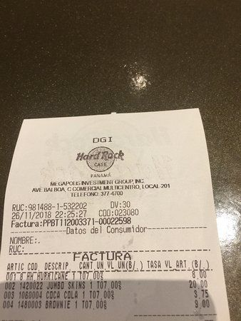 hard rock cafe ticket