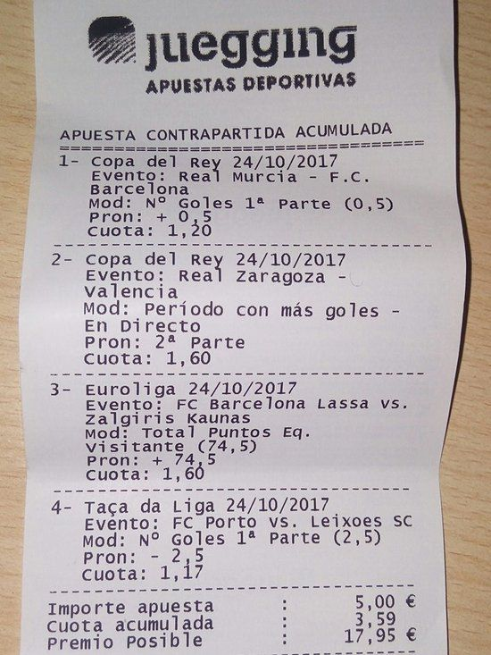 ticket apuestas