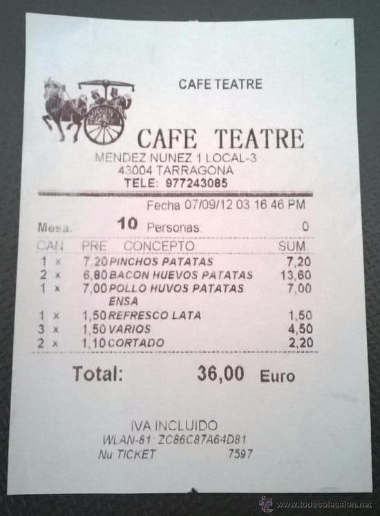 ticket cafe teatre