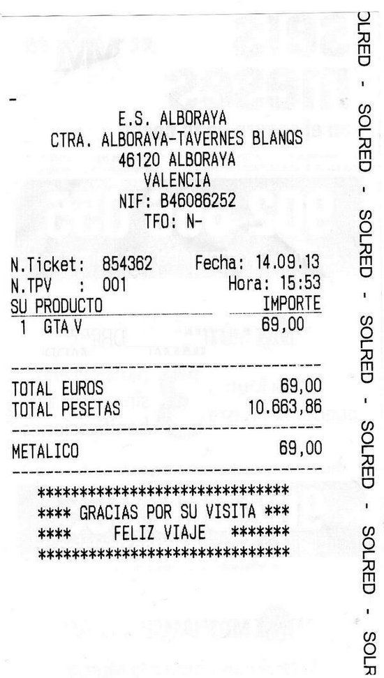 Ticket de Gasolinera Low Cost 2