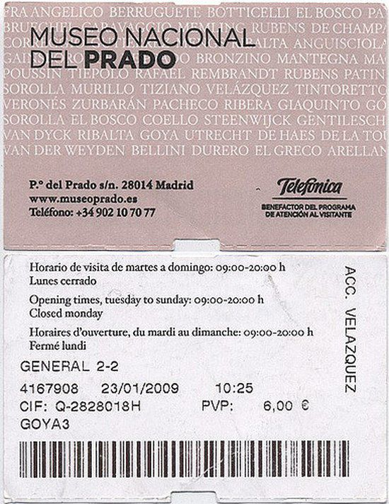 ticket museo del prado