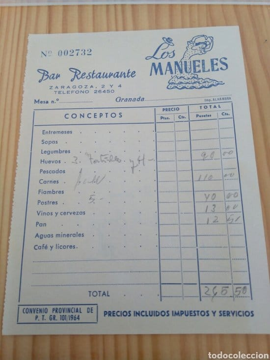 ticket restaurante losmanueles