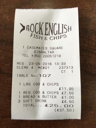 ticket rock english fish chips