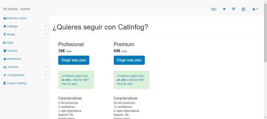 selecciona licencia catinfog